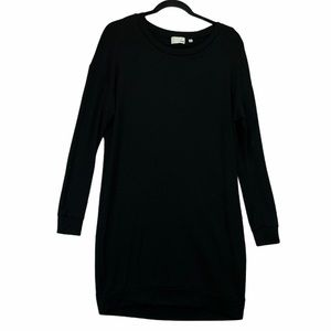 Aritzia Wilfred Long Sleeve Sweater Dress Black